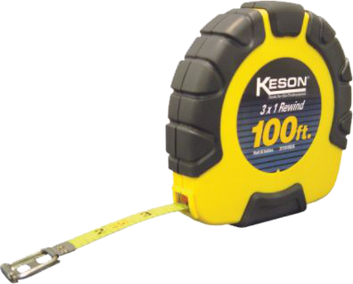 A metal tape measure is recommended for all estimating