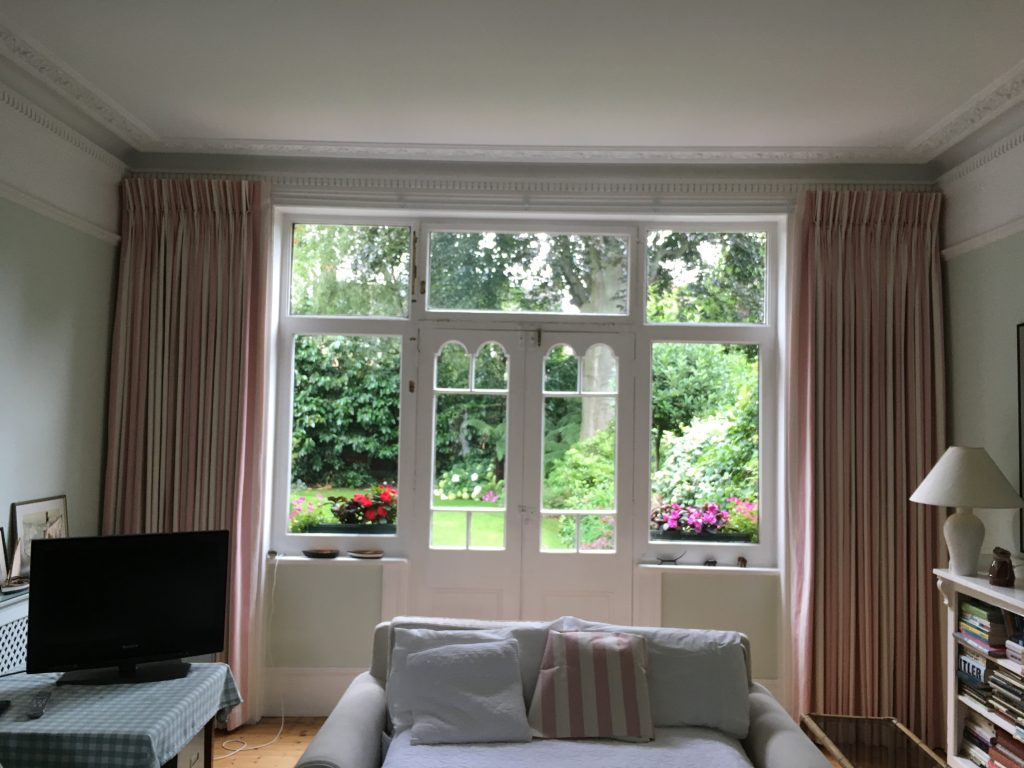 Ealing W3 Extra Large Curtains On Corded Integra Metal Rail